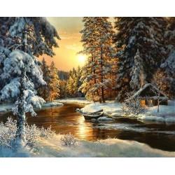 Malování podle čísel Zimní les M99319 Gaira - 1