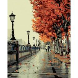 Malování podle čísel Podzimní promenáda M1036 Gaira - 1