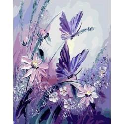 Malování podle čísel Fialoví motýli M1106 Gaira - 1
