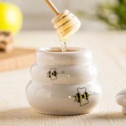 Hrneček na med s dřevěným dávkovačem UZD - 5