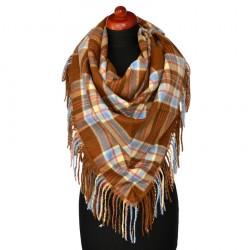 Maxi trojcípý šátek - hnědomodrý BI - 1
