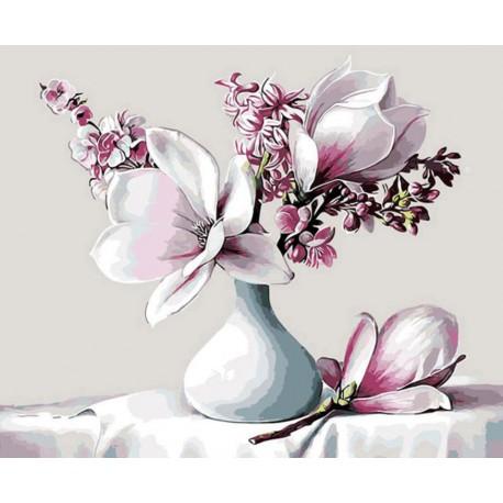 Malování podle čísel Květy magnólie M1670 Gaira - 1