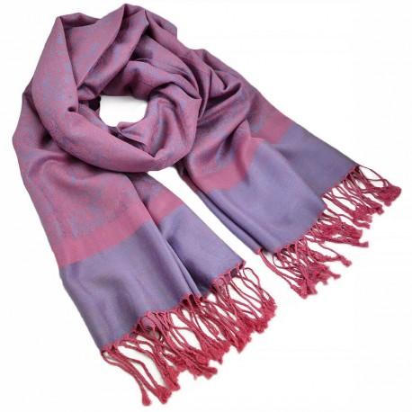 Šála teplá - růžovo-fialová BI - 1