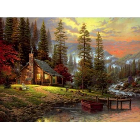 Malování podle čísel Dům v lese M170A Gaira® - 1