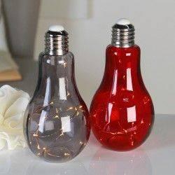 Stolní dekorativní lampa Žárovka, 22 cm, šedá