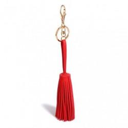 Přívěsek na kabelku/klíče - červený střapec 2GS - 1