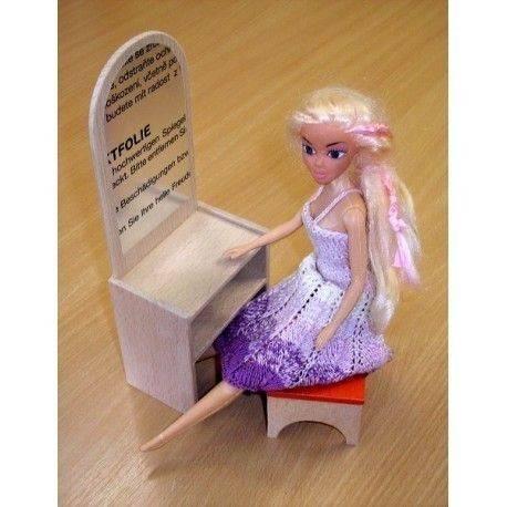 Dřevěná toaletka se zrcadlem pro Barbie 2GS - 1