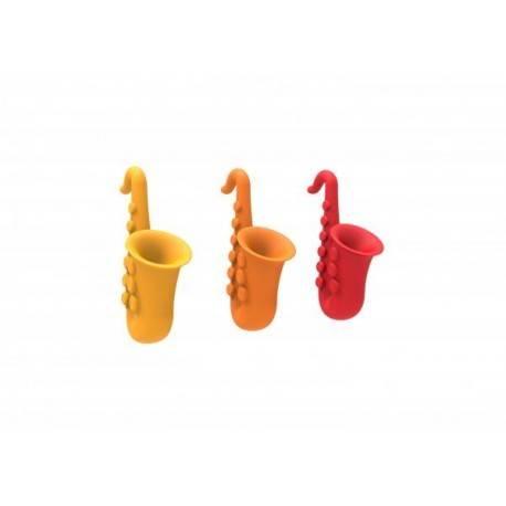 Držák pokličky Saxofon - červený 2GS - 1