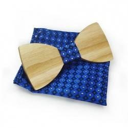 Dřevěný motýlek s kapesníčkem 709808