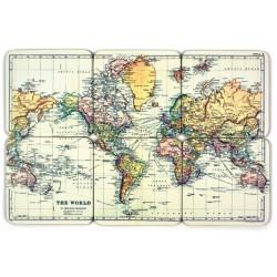 Korkové podtácky Mapa