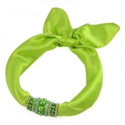 Šátek s bižuterií Letuška 299let001-51 - zelený BI - 2