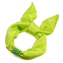 Šátek s bižuterií Letuška - zelený BI - 1