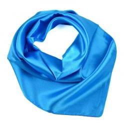 Šátek saténový 63sk001-30 - modrý BI - 1