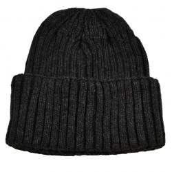 Pletená panská čepice - tmavě šedá BI - 1