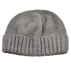 Pletená panská čepice - šedá BI - 1