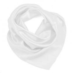 Šátek saténový - bílý BI - 1