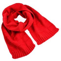 Set z vlny šála a čepice - červený BI - 1