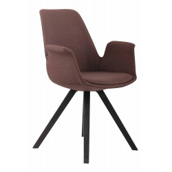 Konferenční stolek Claire kulatý, 55 cm, mramor / černá Design Scandinavia - 1