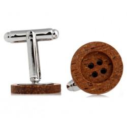 Dřevěné manžetové knoflíčky 709115 Gaira - 1